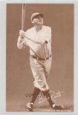 1980 An Exhibit Card Hall of Fame Reprints Tan Stock Sepia #BARU Babe Ruth