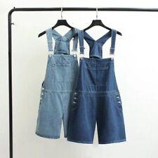 Womens Denim Shorts Jeans Overalls Jumpsuit Playsuit Dungaree Stretch short Pant