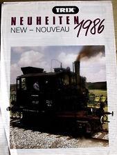Catalogo TRIX Novità 1986 - DEU ENG FRA -  [TR.27]