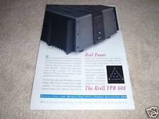 Krell Full Balanced FPB 600 Amplifier Ad 1997,RAW POWER