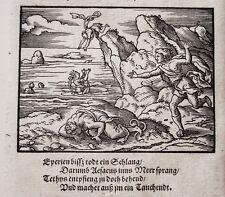 Virgil Solis aesacus salta in mare erotico Ovidio Chalkidiki legno sezione 1563