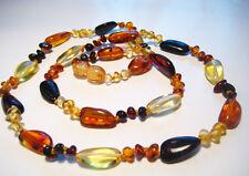 "Genuine  Baltic  Amber Necklace ""Multicolor"""