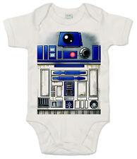 "Traje De Baño De Star Wars ""R2D2 robot"" gracioso Babygrow lindo bebé niño niña"