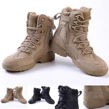 Hombre Militar Botines TÁCTICA BOTAS DE COMBATE Zapato exterior montaña NUEVO