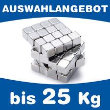 Neodym Magnet Würfel Magnetwürfel - bis 25kg - AUSWAHL - starke Würfelmagnete