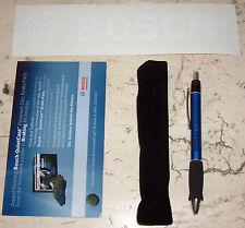 BOSCH PROMOTIONAL SET; Window Sticker Decal, QuietCast Magnet & Pen w/case