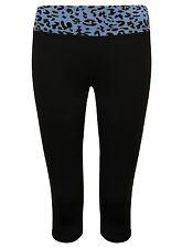 Ladies Fitness 3/4 Leggings Animal Print Sports Elastic Womens Gym Workout Pants