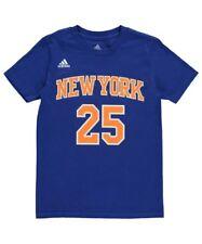 Derrick Rose T-Shirt New York Knicks #25 Youth NBA Name & Number  - Blue