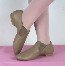 EllisBella Jazz shoe-New Tan split sole Jazz booties Narrow fiiting, Narrow Foot