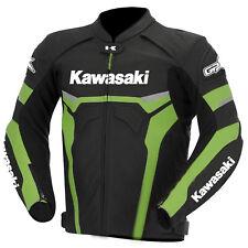 Kawasaki Motocicletta Giacche Pelle Motociclo Da Corsa Sport Ciclista Protettivo