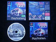 JEU Sony PLAYSTATION PS1 PS2 : CASTROL HONDA VTR (courses moto COMPLET)