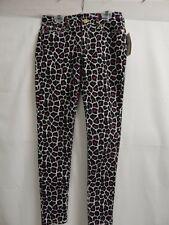Michael Michael Kors Womens Animal Print Skinny Jeans Pants White/Black/Pink NWT