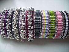 Bracelet.Choice of colours.Skull,Friendship,Charm,Shambella.Christmas Gift.uk