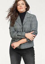 NoSecret Jackenblazer »Vorn mit Zipper und Zippertaschen«, schwarz-weiß. NEU!!!