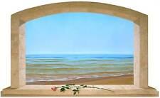 Sticker Trompe L'oeil Adesivo Finestra su mare