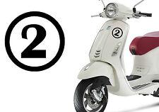 Pegatina vinilo Numero 2. Stiker vinyl cut number TWO. Outdoor or indoor. DOS