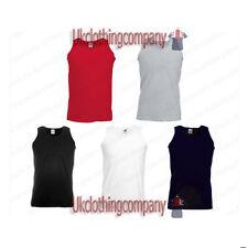 Fruit of the Loom Plain Athletic Vest - Plain Tank Top - Sleeveless T-Shirt