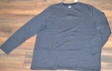 Croft & Barrow Long Sleeve T-Shirt Dark Gray Henley shirt Big & Tall Sizes