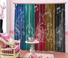 Various Instruments 3D Curtain Blockout Photo Printing Curtains Drape Fabric