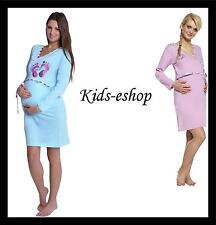 Maternity Nursing Nightdress Nightshirt Nightwear Breastfeeding  Cotton S L XL
