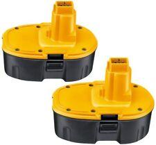 2X Powayup Remplacement pour Dewalt DC9096 18V 3000mAh Ni-MH Batterie DE9098