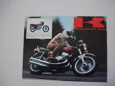 advertising Pubblicità 1974 MOTO KAWASAKI 400 MACH II S3J
