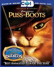 Puss in Boots (Three-Disc Combo: Blu-ray 3D/Blu-ray/DVD/Digital Copy), , Good DV