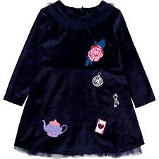 Billieblush Kleid Samt Tüll blau festlich Gr. 92 98 104 110 116 122 128 134 140