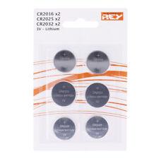 Pack de 6 Pilas 2x CR2016 / 2x CR2025 / 2x CR2032 Botón Litio en Blister b12 vr