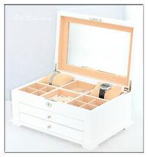 Extra Large Stunning Piano Finish Wooden Box White