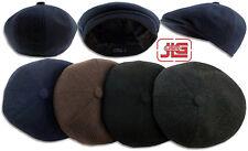 Mens Winter Melton Wool Newsboy Cabbie hat Front Sanpbrim Ivy Cap S|M L|XL 1201