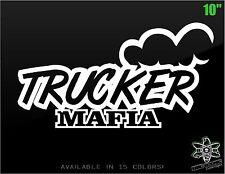 Trucker Mafia Decal Sticker Truck Window Diesel Screw MPG Peterbilt Mack BIG RIG