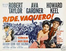 Ride vaquero Ava Gardner vintage movie poster