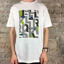 Quiksilver Snapper Casual/Sommer Kurzarm T-Shirt weiß Gr. S, M, L, XL