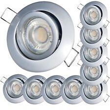5,0W Hochvolt LED Deckeneinbauspots Timo 230V Spot Einbaustrahler Sets 1er -10er