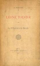 Pierotti: leone Tolstoi La religione e la morale 1901