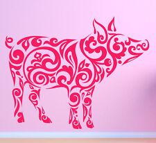 FATTORIA MAIALE Hog Boar. Tribale. Parete In Vinile Adesivo Decalcomania Art. qualsiasi colore.