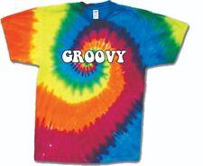 GROOVY! Retro Tie Dye Shirt 100% Cotton Groovy Sixties S-3XL