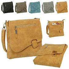 ea4810c4316e3 Luxus Damen Umhängetasche Schultertasche Handtasche Used-Look Leder Optik  3421