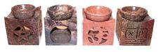BRUCIA ESSENZE olio diffusore oli essenziali wicca magia ohm pentacolo luna arte