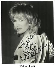 Vikki Carr   Autograph , Original Hand Signed Photo