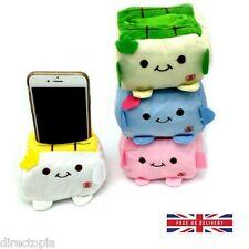 Soporte para teléfono Japonés Tofu Felpa Protecter bloque Asiento Soporte móvil Kawaii
