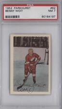 1952-53 Parkhurst #62 Benny Woit PSA 7 Detroit Red Wings Hockey Card