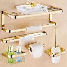 Luxury Gold Square Wall Mount Bathroom Hardware Set Bath Accessories Towel Bar