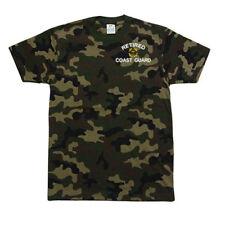 PROCLUB PRO CLUB CAMO Camouflage T-SHIRT RETIRED COAST GUARD USCG
