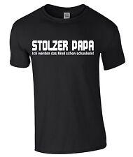 STOLZER PAPA T-Shirt Vatertag Geschenk Textildruck Vater Familie Shirt  M109