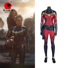Movie Avengers Endgame Cosplay Captain Marvel Costumes Woman full suit Halloween