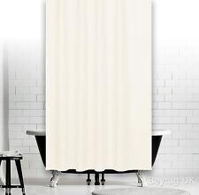 Cortina de ducha de tela crema claro, dobladillo ponderado, extra largo, Diferentes Tamaños