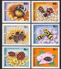HONGRIE 1980 Bee/scarabées/Insectes/Papillons/POLLINISATION/FLEURS 6 V Set (n34457)