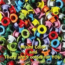 """200 Pcs 1/8"""" Eyelet Mixed Colors Eyelet Scrapbooking Card Hole Craft Leather"""